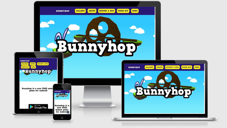 Bunnyhop veebilehe disain